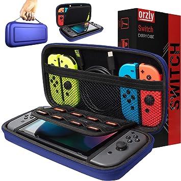 Orzly Funda Transportar la Nintendo Switch – Azul Funda Dura de Viaje para Llevar la Nintendo Switch y Sus Accesorios: Amazon.es: Electrónica
