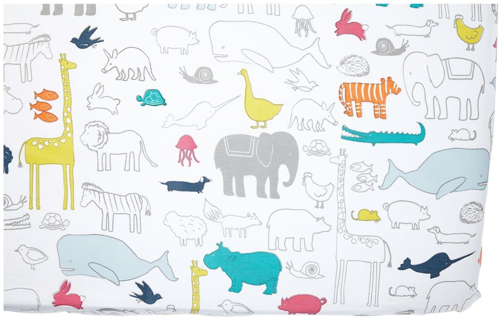 Pehr Crib Sheet, Noah's Ark by PEHR