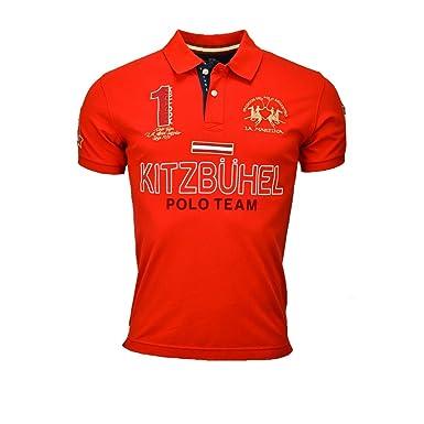 La Martina Herren Poloshirt Rot Rot Gr. Small, Rot - Rot