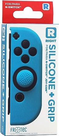 FR·TEC - Funda Silicona + Grip Para Joy- Con Azul Derecho - Nintendo Switch: Amazon.es: Videojuegos
