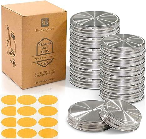Kerr MASON JAR LIDS  regular or wide mouth ~12 Lids Per Pack ~ Sealed ~ CHOICE
