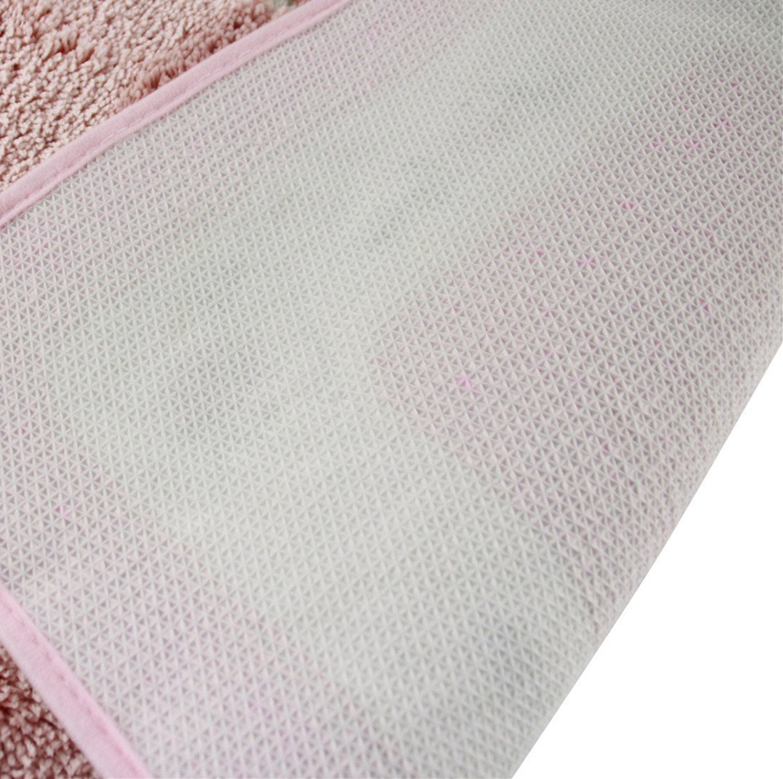 36inch by 36inch, Pink Licheng Rounded Floral Rural Design Beautiful Rose Flower Non Slip Absorbent Area Rugs
