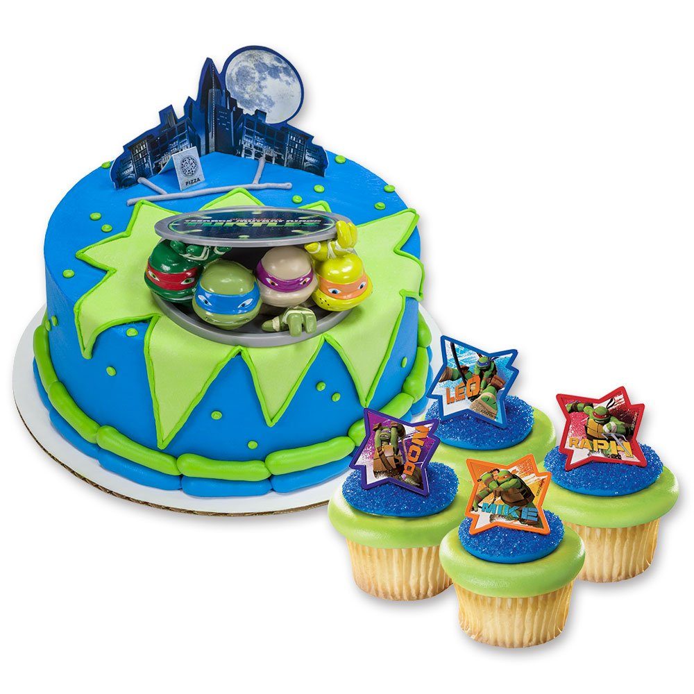 Amazon.com: DecoPac Teenage Mutant Ninja Turtles DecoSet Cake Topper ...