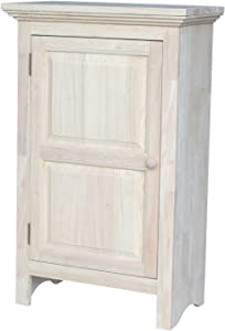 International Concepts Single Jelly Cabinet, 36-Inch, Unfinished