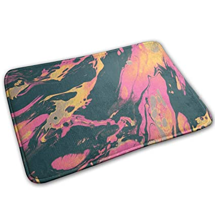 Plaid Moose Buffalo Rectangular Doormat Washable Furnishing Diameter 40 X 60cm//15.7 X 23.6 Coral Velvet Absorption Mat