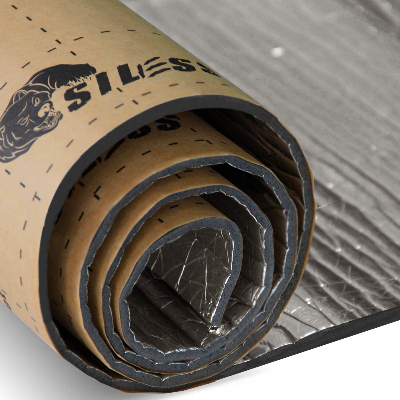 157 mil 30 sqft Siless Liner 157 mil Aluminum Foil Finish Car Sound Deadening /& Heat Insulation Closed Cell Foam PE Foam Sound Deadener
