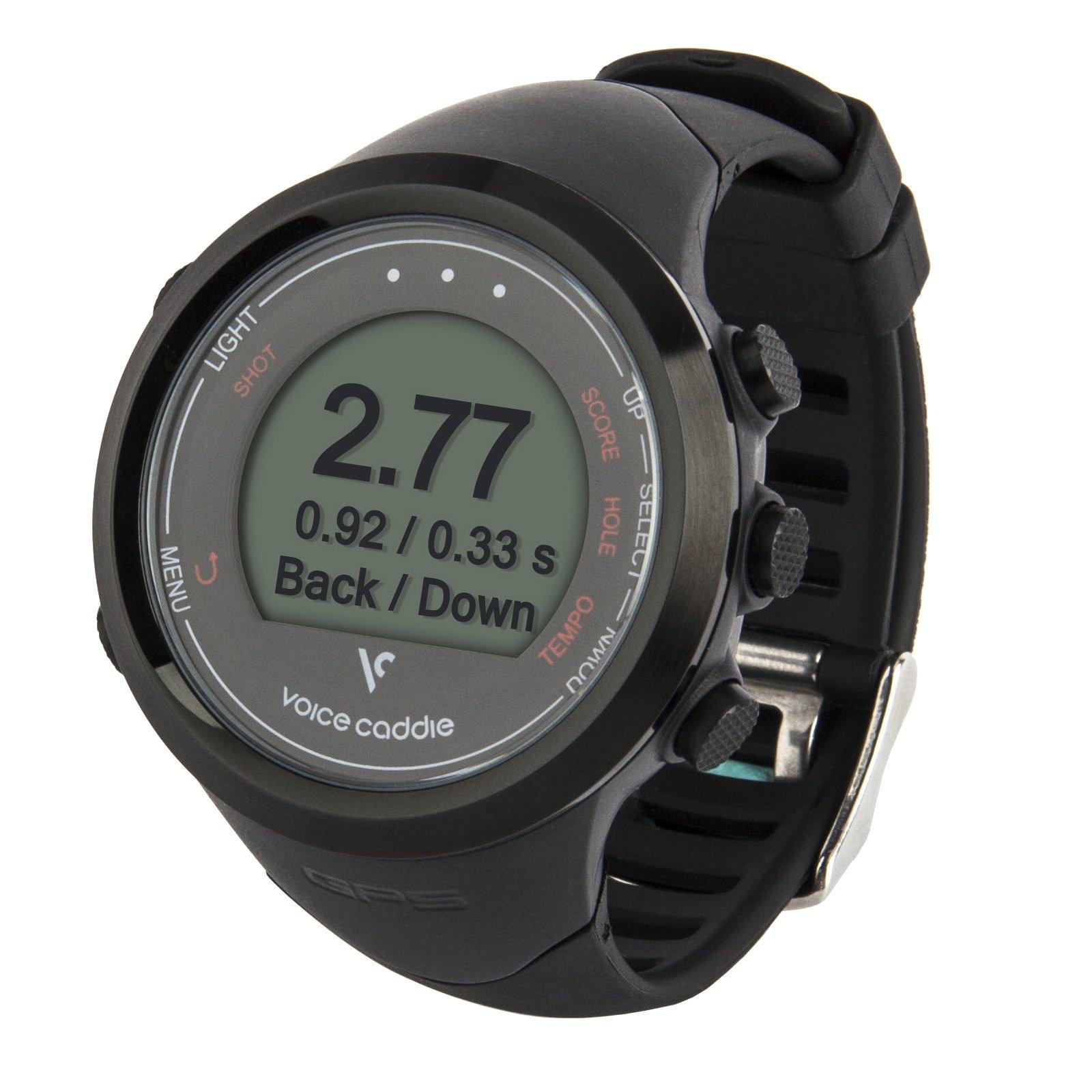 Voice Caddie T1 Hybrid Golf GPS Watch, Black