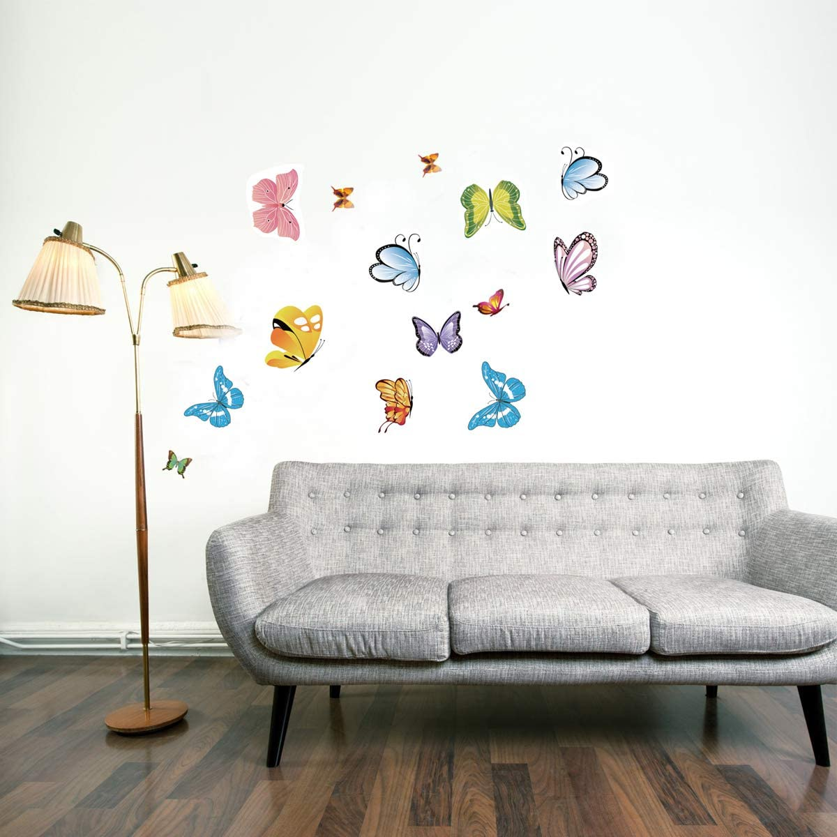 Liwein Mariposa Pegatinas de Pared,80 Piezas Adhesivos Mariposas 3D Decorativos PVC Impermeable Bricolaje Mural de Arte Artesania para Sal/ón Guarder/ía Habitaci/ón Infantiles Ni/ños Beb/és Dormitorio