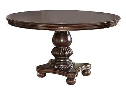 Amazoncom Homelegance Lordsburg 54 Round Dining Table Cherry