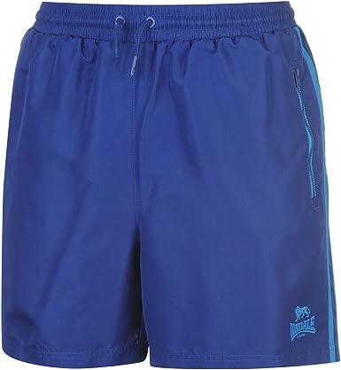 Lonsdale Hommes Short Tiss/é avec Poches Sport Bermuda