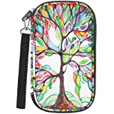 Family Travel Wallet Passport Holder, Fintie RFID Blocking Document Organizer Bag Case w/Hand Strap, Love Tree