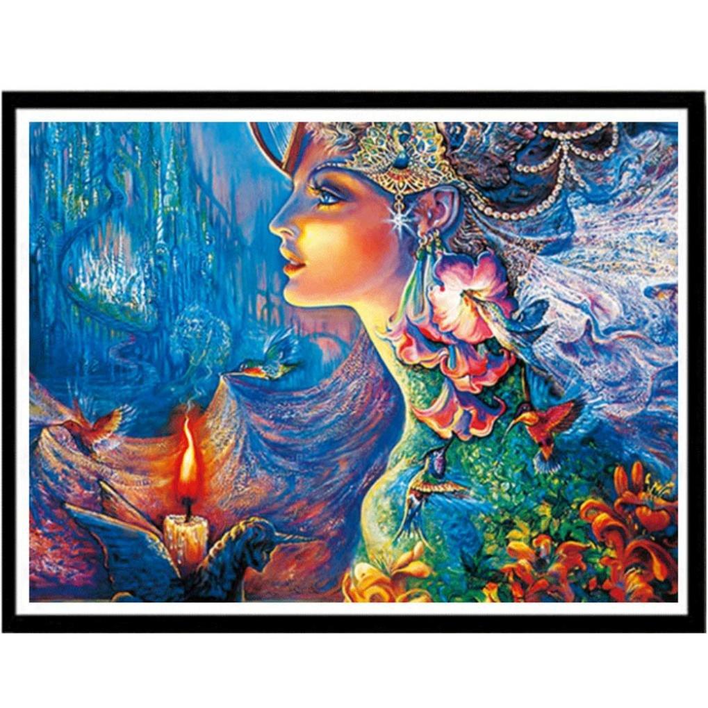 Fineser ( TM ) 5d Fairy DIYダイヤモンド絵画ラインストーン画像のクリスタル刺繍キット美術、工芸裁縫クロスステッチ   B078288DHP