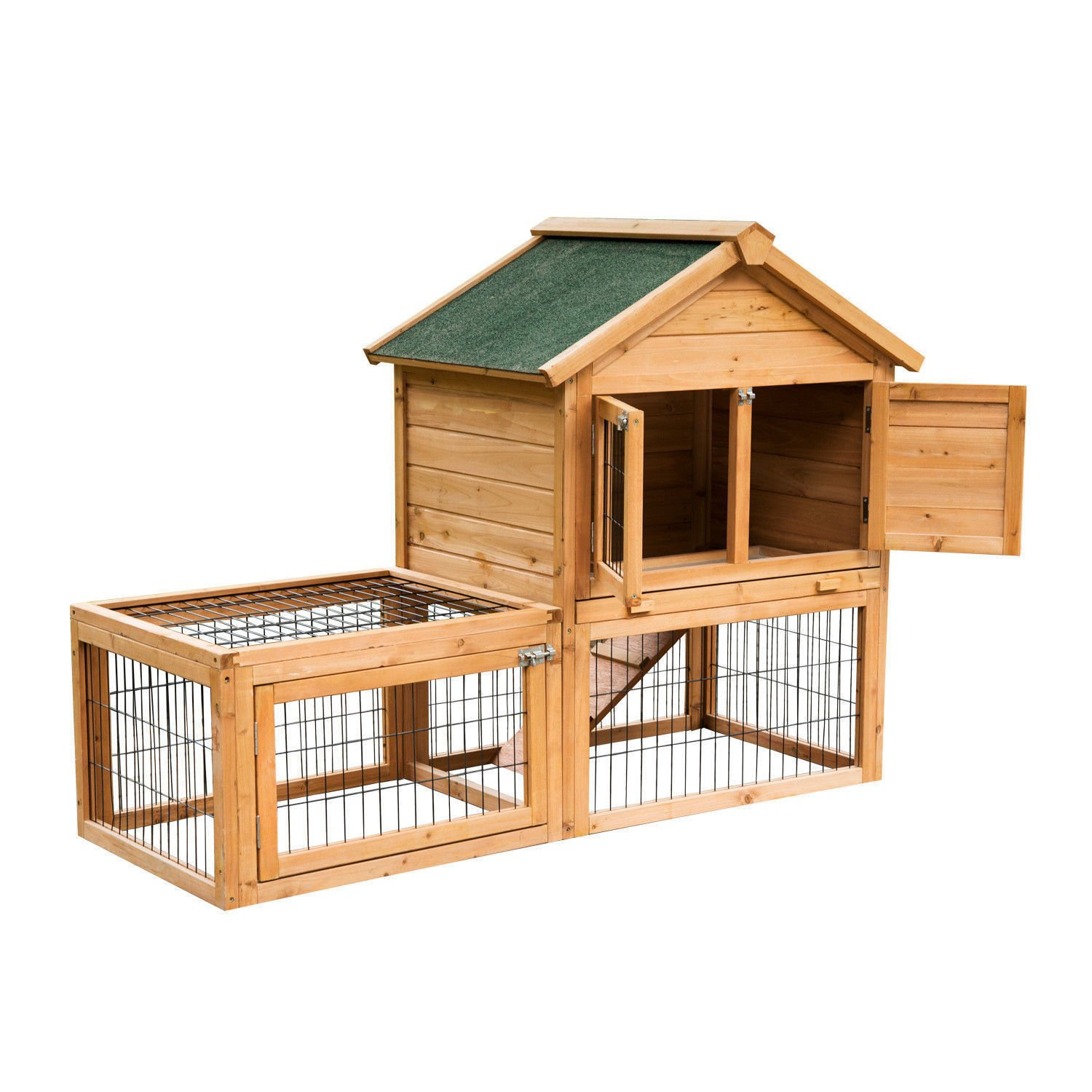 Eight24hours 53'' Wooden Chicken Coop Rabbit Hutch Small Pet House Hen Cages + FREE E-Book by Eight24hours (Image #4)