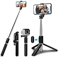 SYOSIN Selfie Stick Tripod with Wireless Remote, Mini Extendable 4 in 1 Selfie Stick (103cm) - 360° Rotation Phone Stand…