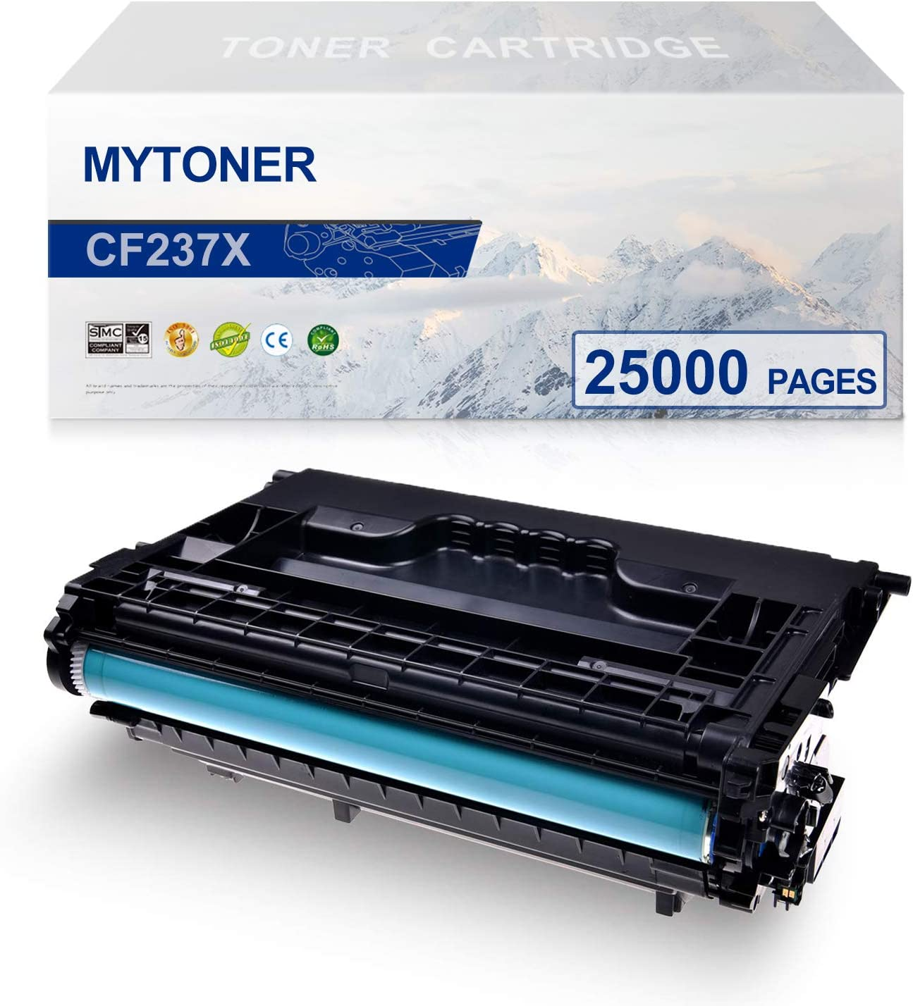 MYTONER High Yield Compatible Toner Cartridge Replacement for HP 37X CF237X for HP Laserjet Enterprise HP Laserjet Enterprise MFP M607 M608 M609 M631 M632 M633 Printer(Black,1-Pack)