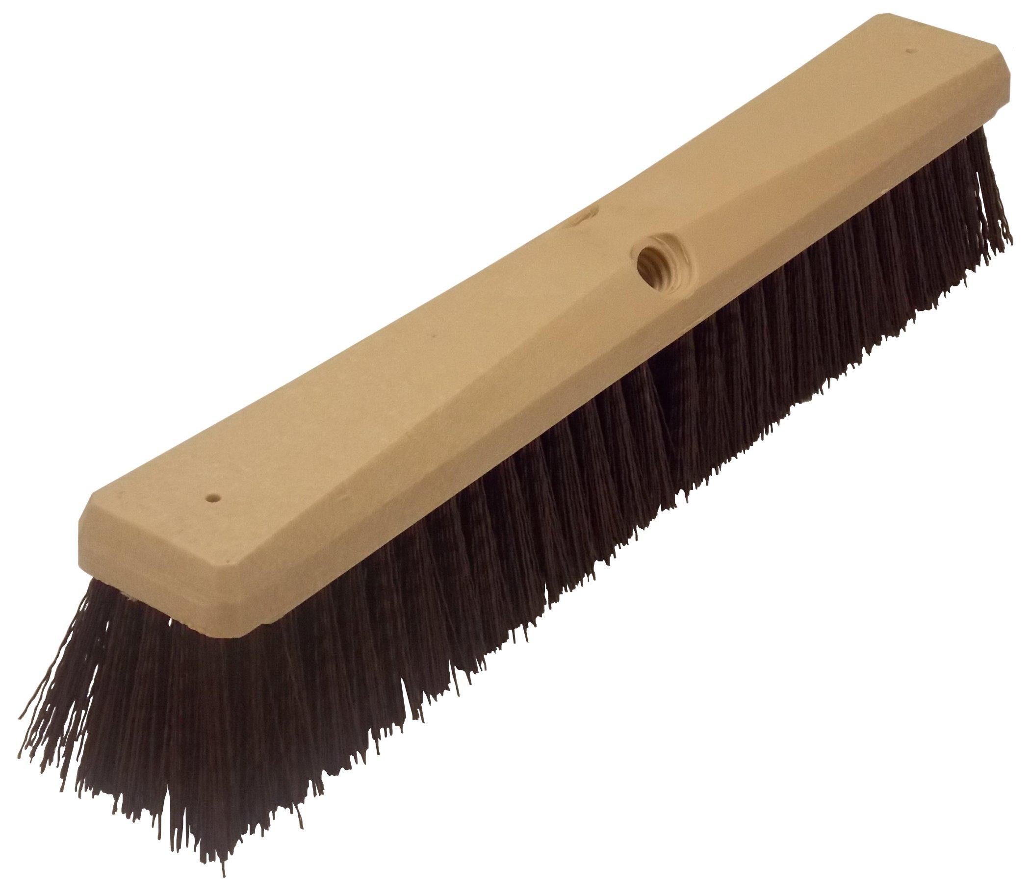 Wilen F103118, Crimped Polypropylene Garage Sweep, 18'' Foam Block, 3'' Bristle Trim (Case of 12)