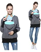 Lucky Shop1234 Womens Maternity Kangaroo Hooded Sweatshirt for Baby Carriers