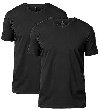 d0a1ae03 LAPASA 2 Pack Men's Vests - Premium Stretch Cotton - Super Soft Short  Sleeve T-