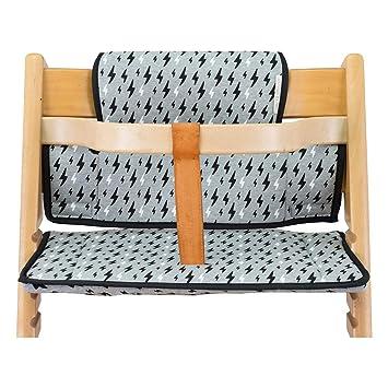 Janabebé Cushion for high Chair Stokke Tripp Trapp (Black Rayo)