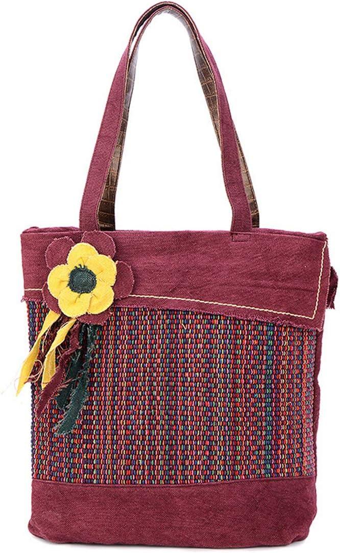 KeMeiChina Womens Handbag Vintage 3D Flower Crossbody Shoulder Bag Top Handle Satchel Purse Bag
