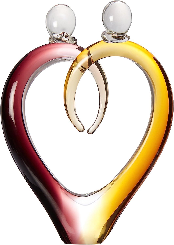 Dale Tiffany Art Glass Hearts Sculpture