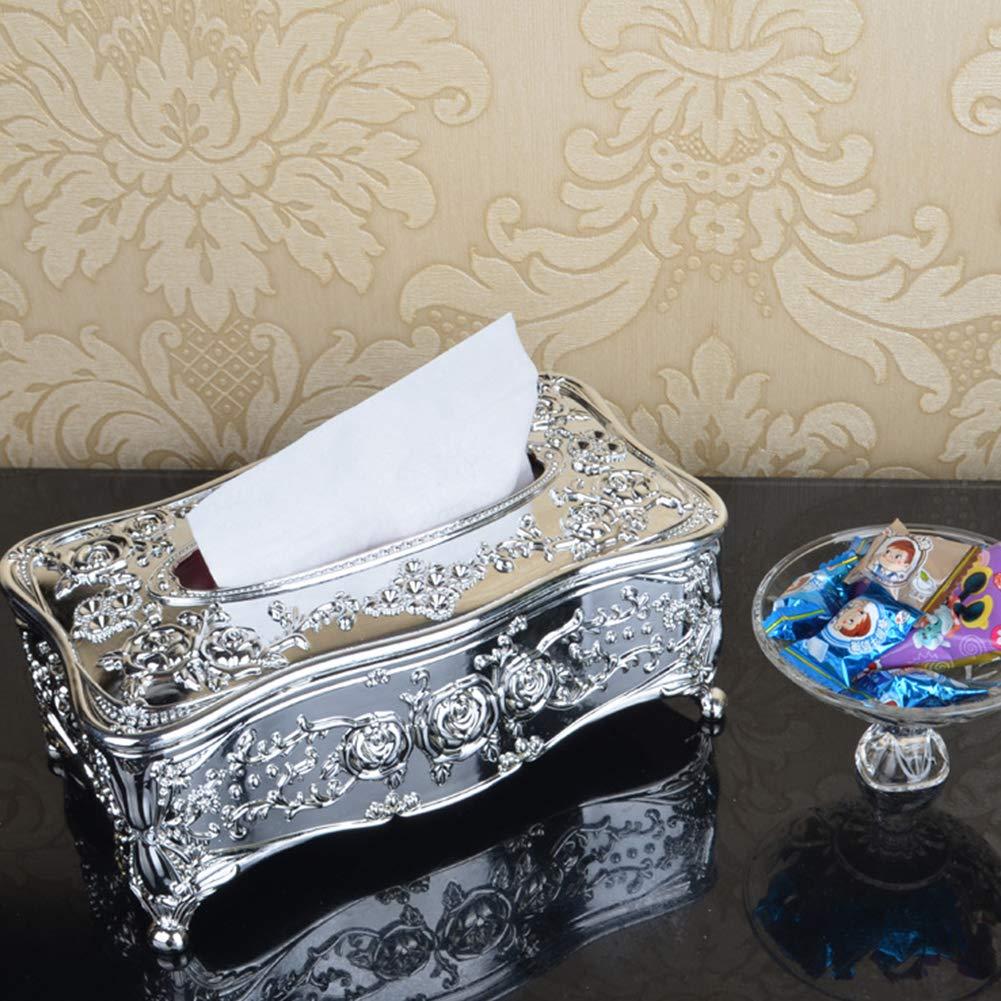 Gold Tissue Box Europ/äischen Kosmetikt/ücher Box Fall Halter Papier Box Servietten Box Home Wohnzimmer Restaurant Stil Home Office Hotel Auto