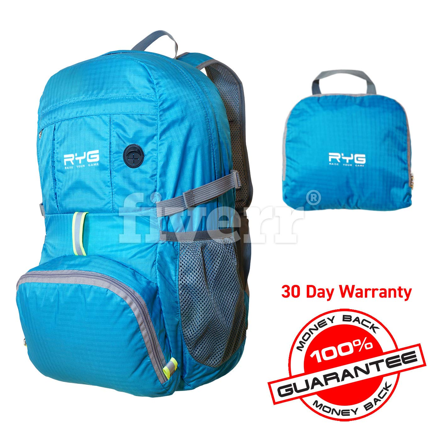 NA Lightweight Packable Travel Hiking Water-Resistant Stowaway Foldable Storage Camping Hydration Ready for Women and Men Ultralight Backpack Beach