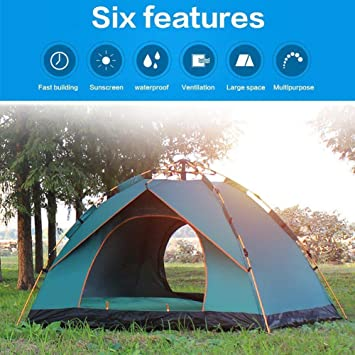 Camping & Outdoor Pop-Up Zelt Wurfzelt Automatikzelt Strandzelt Campingzelt 2 Personen Zelt Zelte