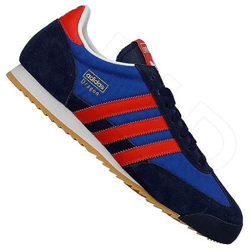 adidas Originals Dragon Herren Freizeit Schuhe Sneaker TURNSCHUH BLAU ROT,  Farbe Blau, Schuhgröße f2239d2bc7