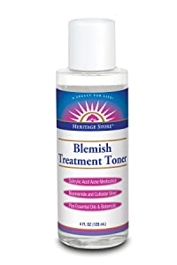 Heritage Store Heritage Store Blemish Treatment Toner: Salicylic Acid Acne Medication, Liquid, Fragrance Free (btl-plastic) 4oz, 4 Fluid Ounce