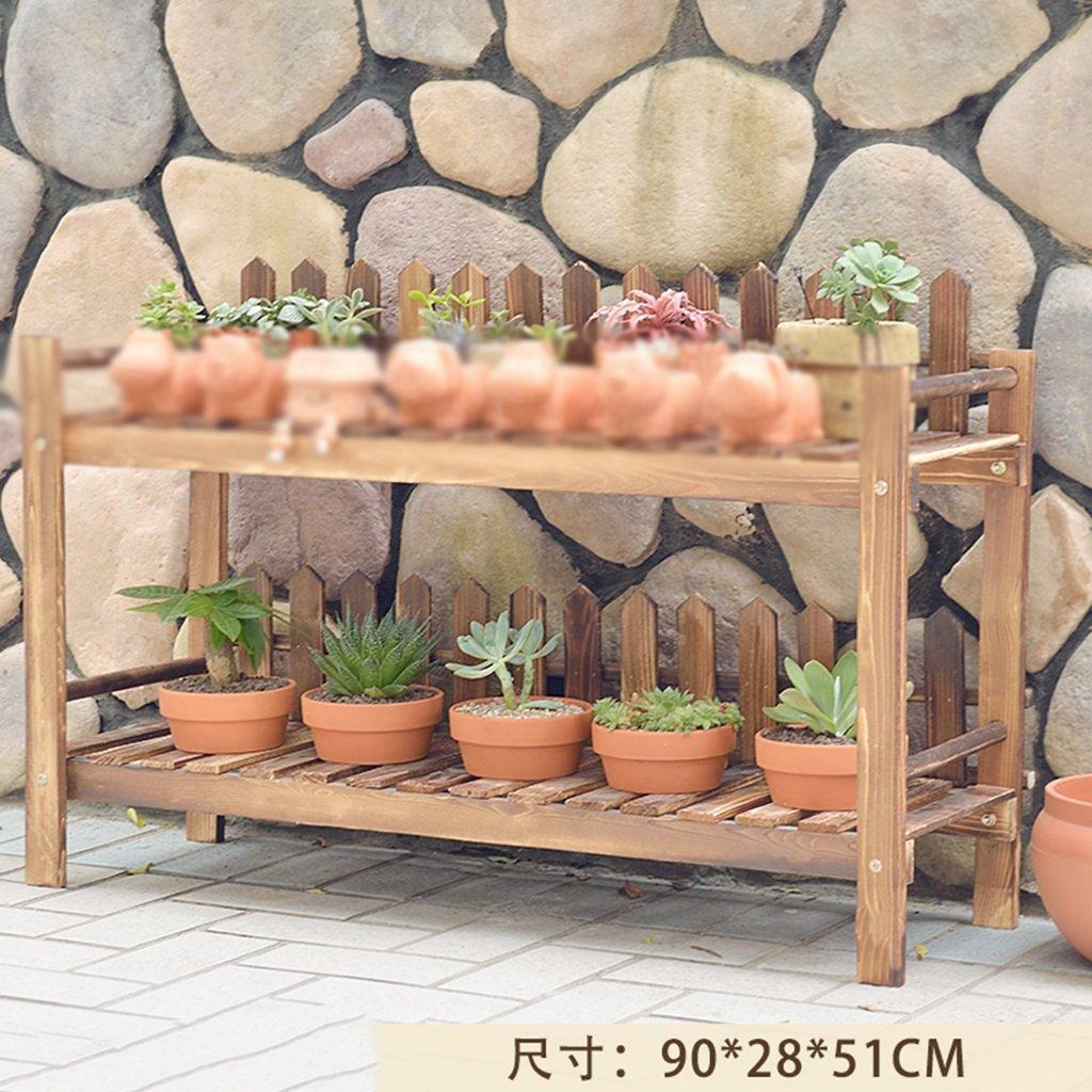 Balkon Blumenregal Massivholz Mehrschichtiges Wohnzimmer Blumenregal Landung Indoor Blumenregal ( farbe : B )