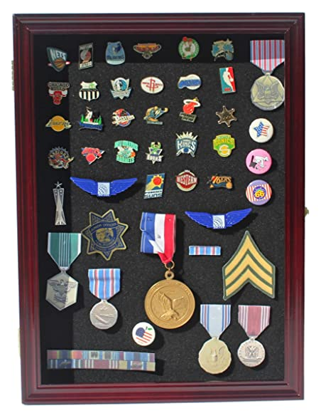 Amazon.com - Collector Pin and Medal Display Case Holder Cabinet ...