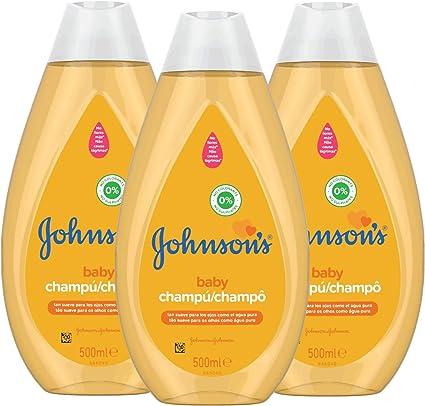 Johnsons Baby Champú Clásico, pelo suave, brillante e hidratado - 3 x 500 ml: Amazon.es: Belleza