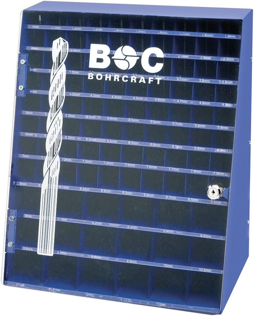 Bohrcraft – Broca de pantalla para broca espiral, 980 piezas, 1 – 10 x 0,1/10,5 – 13 x 0,5 mm, BD 980 vacío, 1 pieza, azul, 01301500004: Amazon.es: Bricolaje y herramientas