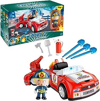 Oferta amazon: Pinypon Action- Bombero Vehículos de Acción, para niños y niñas a Partir de 4 años, Multicolor (Famosa 700014610) , color/modelo surtido