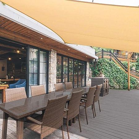 WLKQ Toldo Vela de Sombra Rectangular, Protección Rayos UV Toldo para Patio, Jardín, Exteriores, Color Arena,2.5 × 3 m: Amazon.es: Hogar