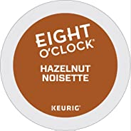 Eight O`Clock Hazelnut Single Serve Keurig Certified Recyclable K-Cup pods for Keurig brewers, 12 Count