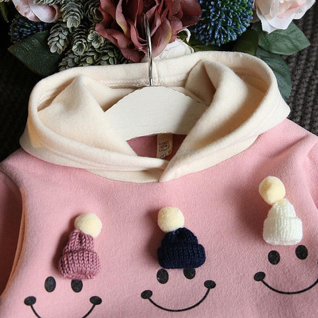 Dress Pants Winter Thick Toddler Baby Kids Girls Clothes Set BURFLY for 3-7 Years Baby Girl Dress Skirt Set Outfits Hooded Jumper Sweatshirt with Mini Small Knitted Hat