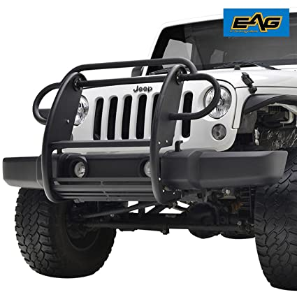 EAG 07 18 Jeep Wrangler JK Grille Guard Bull Bar Grille Saver Bumper Brush  Guard