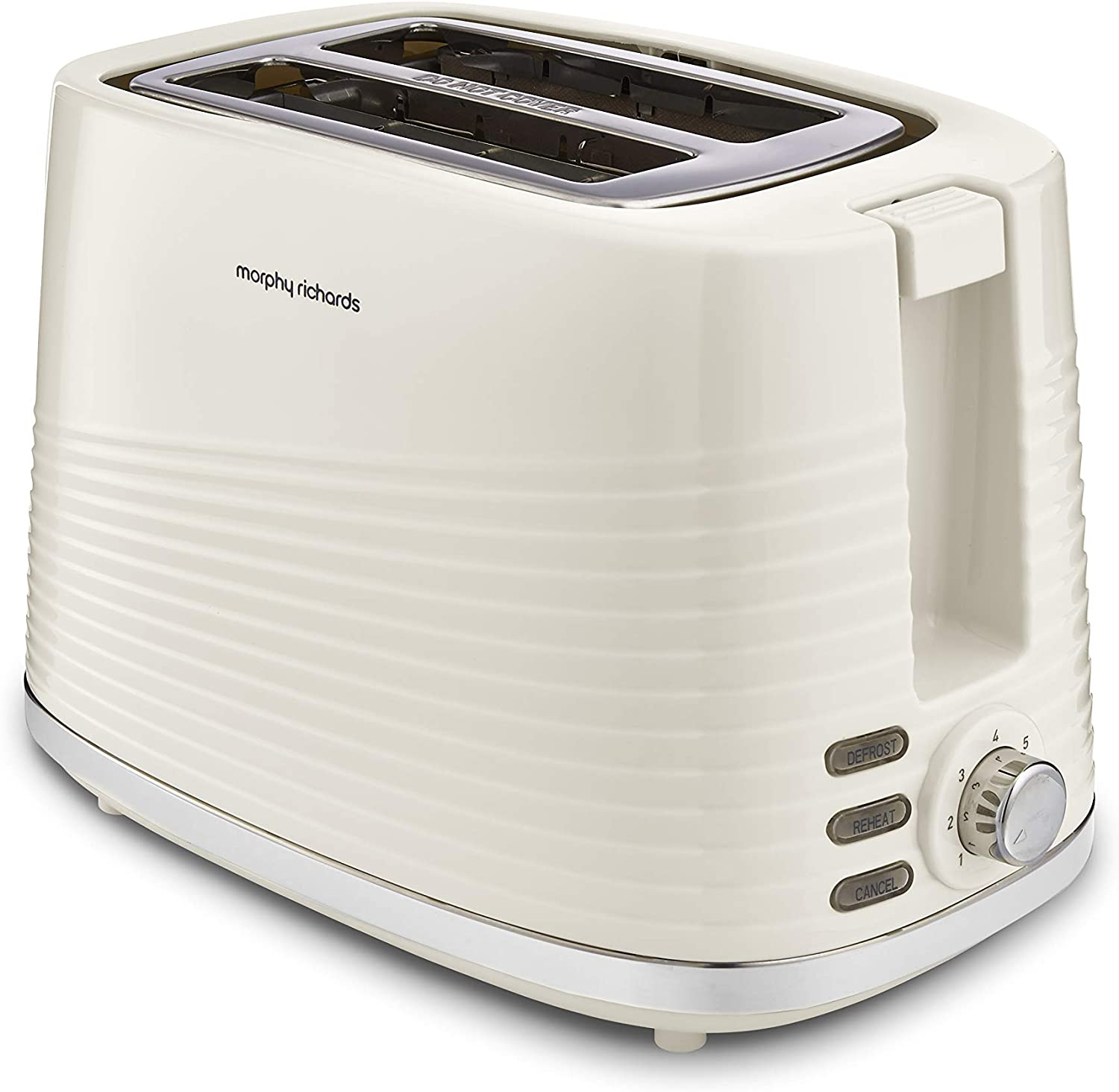 Morphy Richards 220027 Dune 2 Slice Toaster Defrost and Re-Heat Settings, Cream, Defrost Setting, Re-Heat Setting, Variable Browning Control, Removable Crumb Tray, Cord storage, 850 Watts