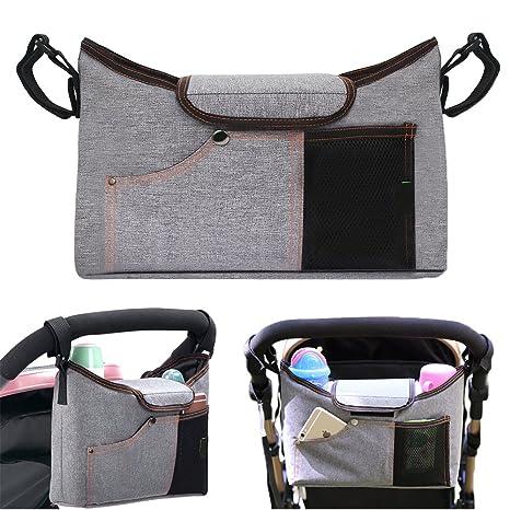yotako Universal Cochecito Organizador Bolsa Padre consola bebé para cochecito de bebé para colgar bolsa soporte