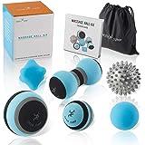 Massage Ball Kit for Myofascial Trigger Point Release & Deep Tissue Massage - Set of 6 - Large Foam/Small Foam/Lacrosse…