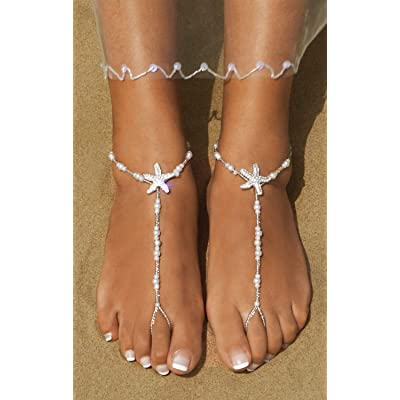Details about  /New Jewelry Foot Silver Bead Chain Anklet Ankle Bracelet Barefoot Sandal Beach