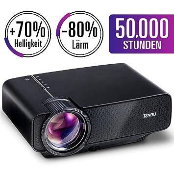 RAGU Mini proyector portátil multimedia Full HD con 70% de brillo ...