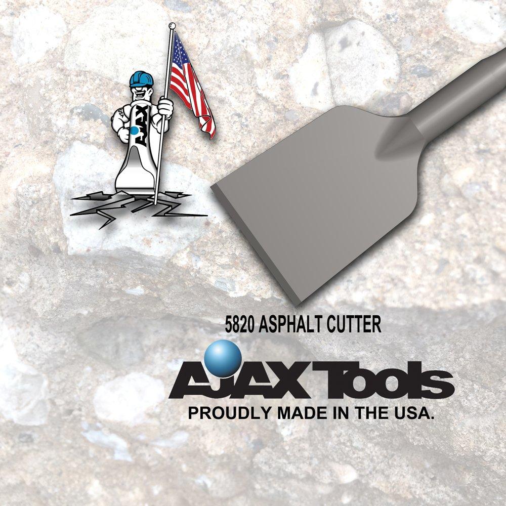 Ajax Tool Works 38400E Asphalt Cutter, Electric Jack Hammer Chisel for Demolition and Concrete Breaker, 1-1/8'' X 6'' Shank, 11'' by Ajax Tool Works (Image #3)