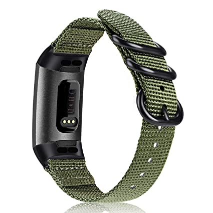 Fintie Bands for Fitbit Charge 3, Soft Woven Nylon Sports Band Replacement  Strap for Fitbit Charge 3 and Charge 3 SE Fitness Activity Tracker Women