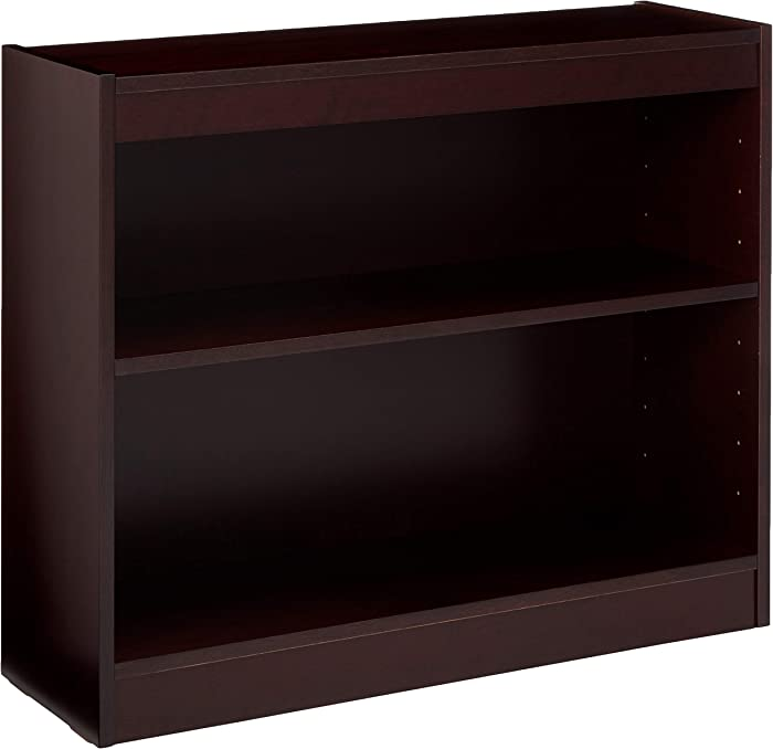 Lorell 2-Shelf Panel Bookcase, 36 by 12 by 30-Inch, Mahogany