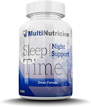 Sleep Time | Innovadora formula que combate el estrés, el insomnio y la ansiedad | L- Arginina | Triptofano | GABA | Melatonina | Glutamina | Valeriana | 90 Capsulas: Amazon.es: Salud y cuidado personal