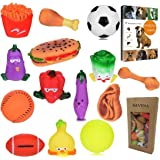 Savena Squeaky Dog Toys -New Upgrade Made by Non-Toxic Odorless Environmental Material No-Stuffing Toy Bite Resistant, Dog Raising EBook Included