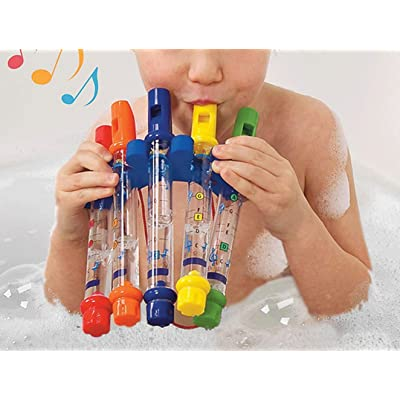 Yunhany Direct 5pcs/Set Bath Toys, Water Flutes Colorful Tub Tunes Musical Toys, Water Whistling Music Toy Set of 5: Home & Kitchen